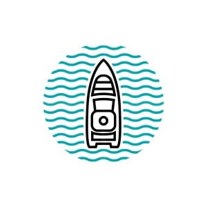 Top Boat Lineart Logo