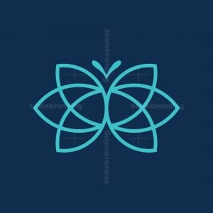 Tulip Butterfly Logo
