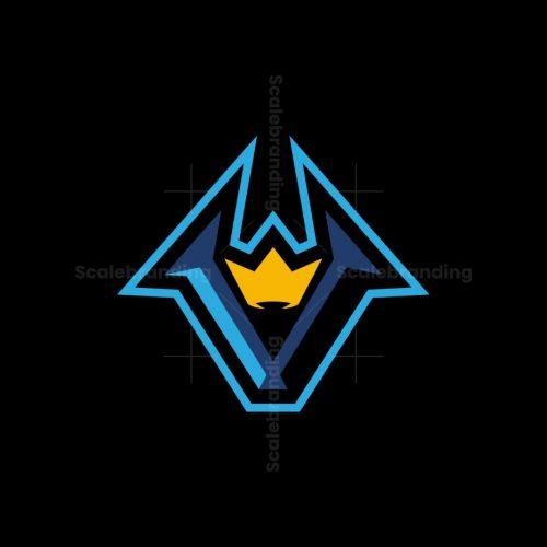 V King Lettermark Logo