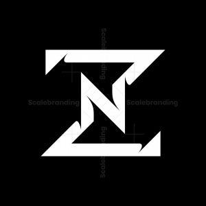 Letter Zn Or Nz Logo