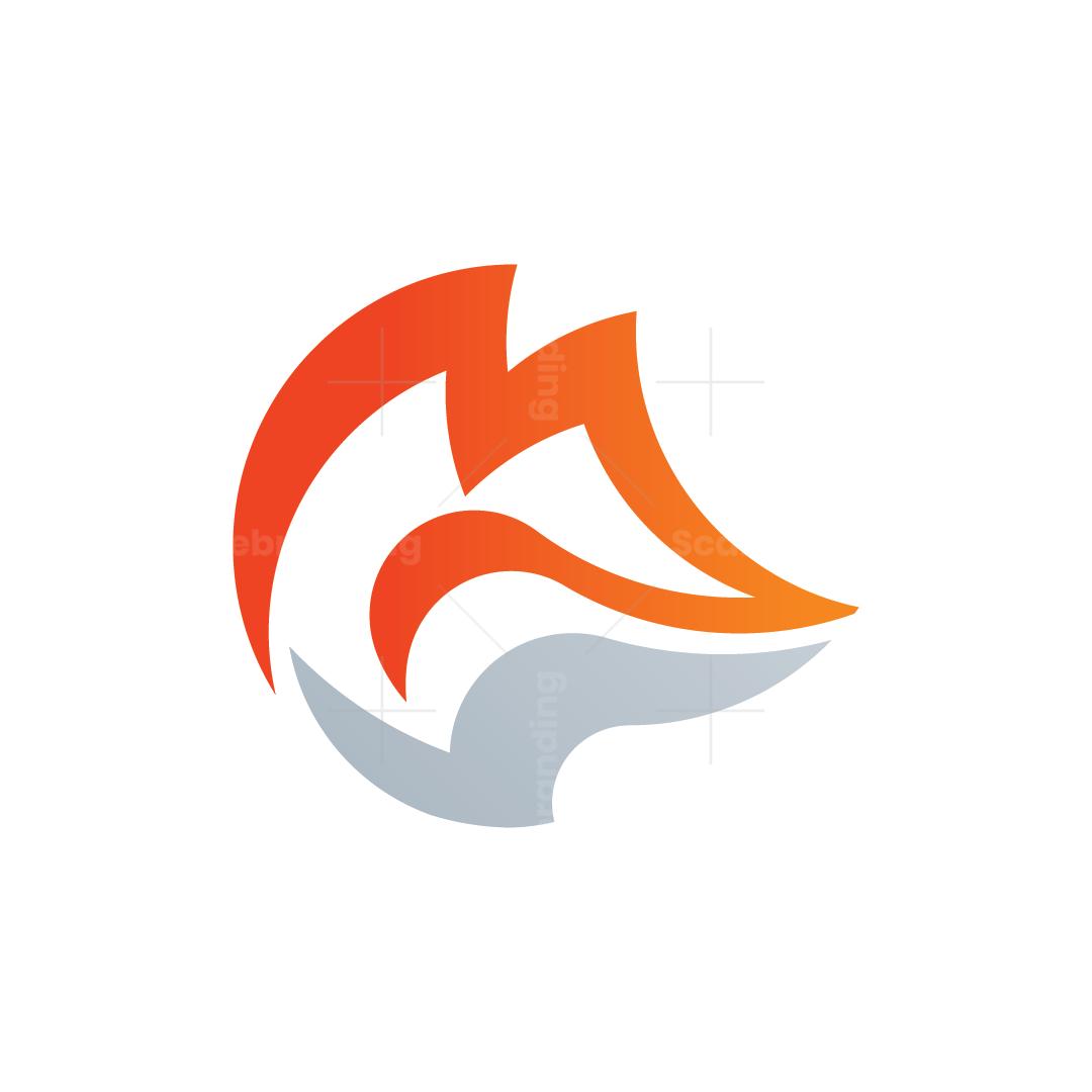 Letter M Fox Logo