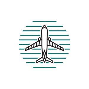 Airplane Lineart Logo