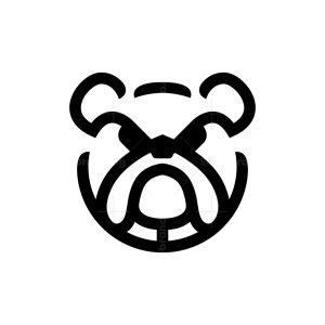 Angry Bulldog Head Logo Bulldog Logo