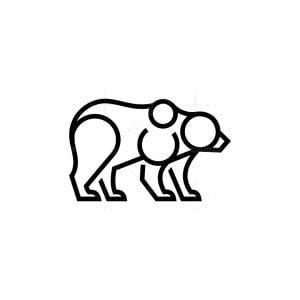 Line Art Bear Logo