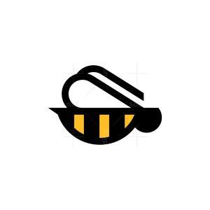 Geometric Bee Logo