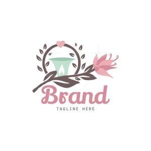 Candle Rose Floral Logo