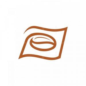 Coffee Bean Flag Logo