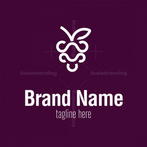 Creative Grape Line Logo