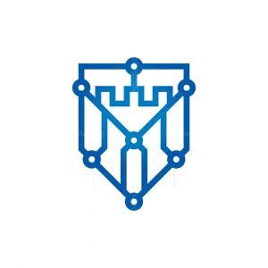 Cyber Fort Logo Cyber Castle Logo
