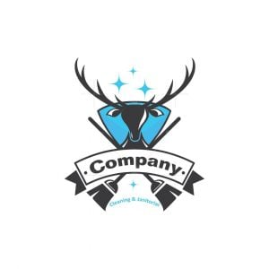 Deer Head Cleaning And Janitorial Service Logo
