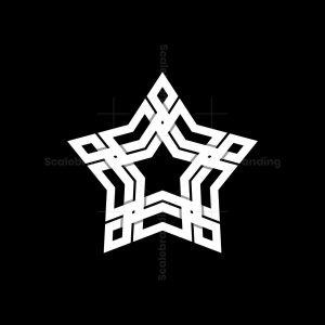 Elegant Star Knot Ornament Logo