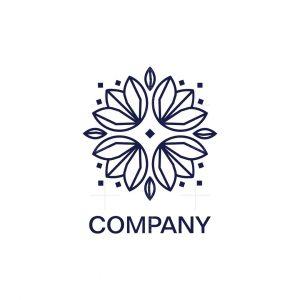 Diamond Lotus Symbol Logo