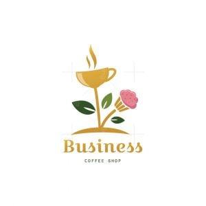 Eco Cafe Coffee Shop Logo