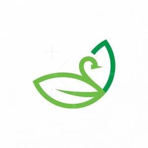 Eco Duck Leaf Logo