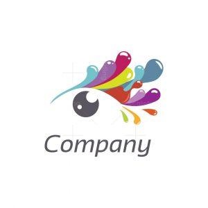 Eyelashes Painting Logo