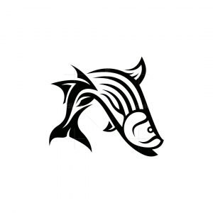 Bass Fish Icon Logo