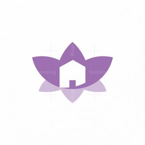 Flower Lily House Logo