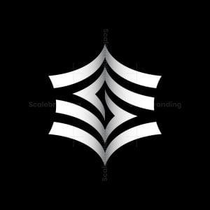 Folded Letter S Logo