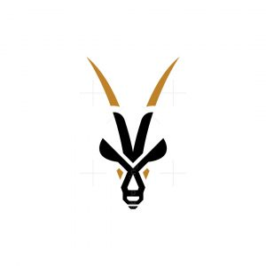 Golden Horns Oryx Logo Oryx Head Logo