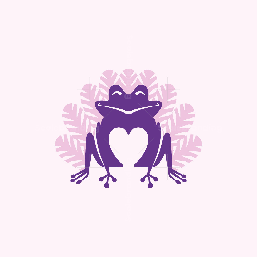 Heart Frog Logo