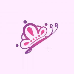 Crown Butterfly Logo