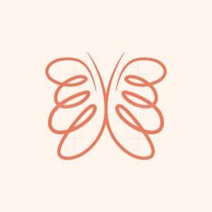 Minimalist Butterfly Logo