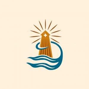Ocean Lighthouse Logo