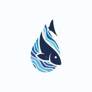 Fish Drop Logo
