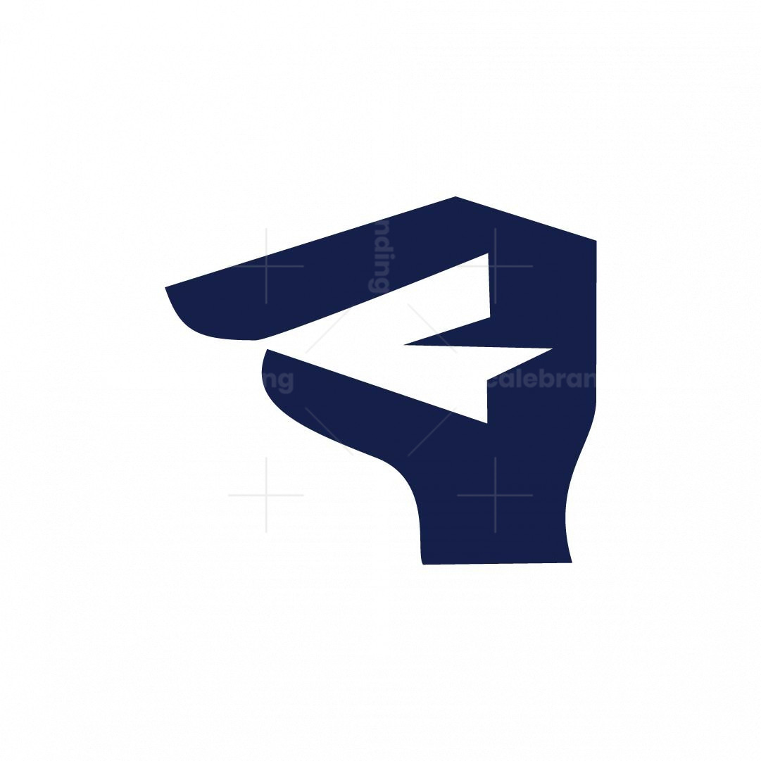 Hand And Paper Airplane Logo