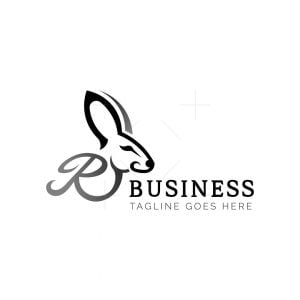 Initials R Rabbit Logo