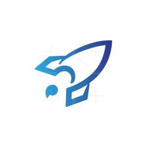 Letter 5 Rocket Logo
