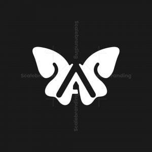 Letter A Butterfly Logo