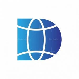 Letter D World Logo