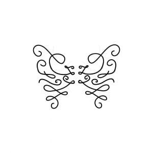 Letter Z Butterfly Logo