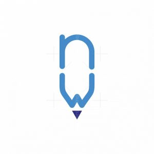 Letter Nw Pencil Logo