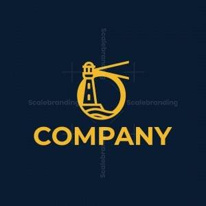 Letter O Lighthouse Logo