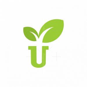 Letter U Plant Logo