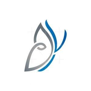 V Butterfly Logo
