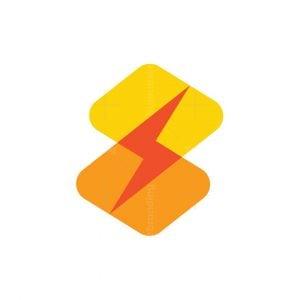 Letter S Thunderbolt Logo