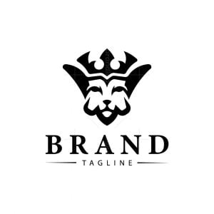 Initials V Lion Logo