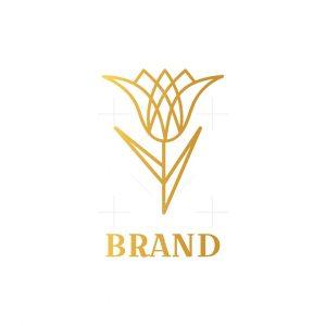 Modern Luxury Tulip Logo