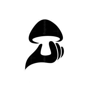 Mushroom In Hand Logo