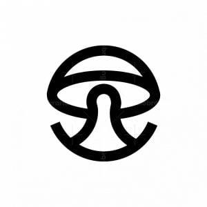 Mushroom Symbol Logo