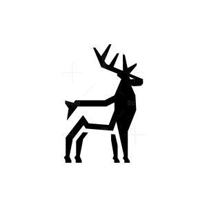 Standing Buck Logo Deer Logo