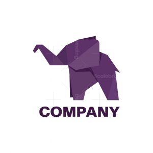 Origami Elephant Symbol Logo