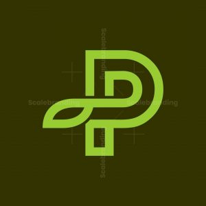 Modern Nature P Leaf Logo