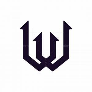 Futuristic Letter W Logo