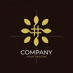 Hastag Leaf Logo