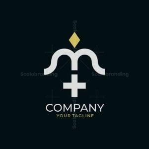 Letter M Medical Logo