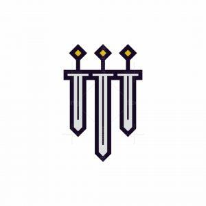 Shield And Three Swords Logo